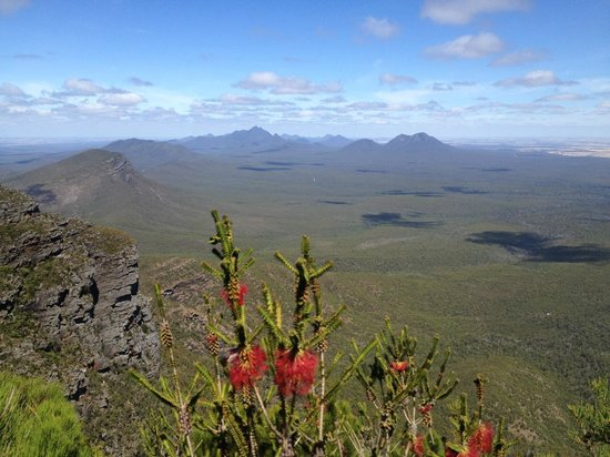 View about halfway up Bluff Knoll across the Stirlings