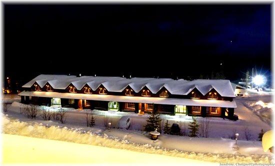 Lapland Hotel Olos: Vue de ma chambre d'hôtel