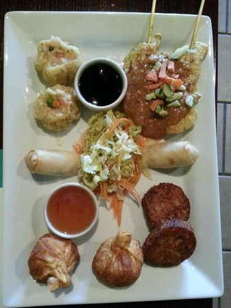 Appetizer Sampler at Thai Spice Restaurant in Limerick, PA