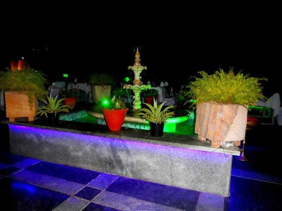 Hotel Taj Resorts : Rooftop restaurant at night