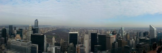 Top of the Rock Observation Deck: Central park from Top of the Rock