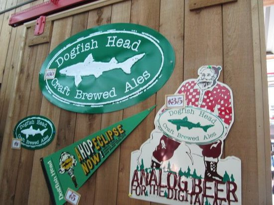 Dogfish Head Craft Brewery: Dogfish Brewery signs