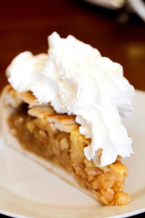 Gold Camp Bakery : Apple Pie with Whipped Cream