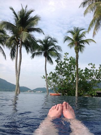 Pangkor Laut Resort: View from the main pool area