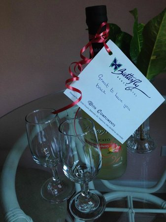 Butterfly Beach Hotel: Welcome back gift