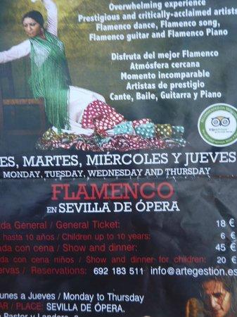 Sevilla de Ópera: Poster de FLAMENCO
