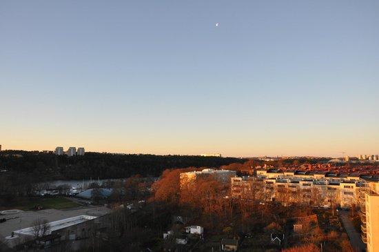 Clarion Hotel Stockholm : 朝やけ風景