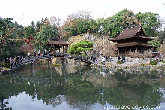 Kokeizan Eihoji Temple with the Musaibashi and Kannon-do