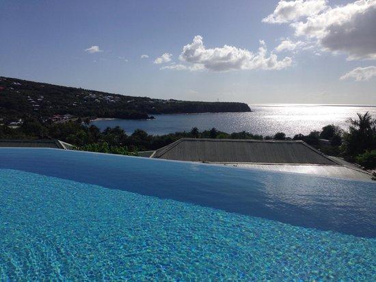 Piscine avec vue sur la mer cara be picture of villa for Piscine fos sur mer