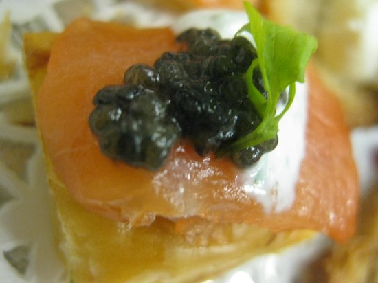 The Rhinecliff: Smoked Salmon Canapes....
