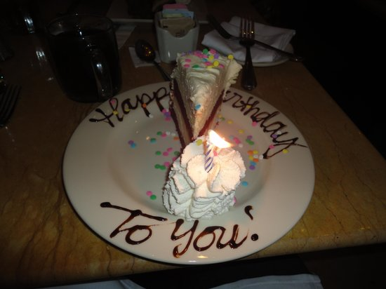 Incredible Birthday Cheesecake Picture Of The Cheesecake Factory Las Vegas Personalised Birthday Cards Beptaeletsinfo