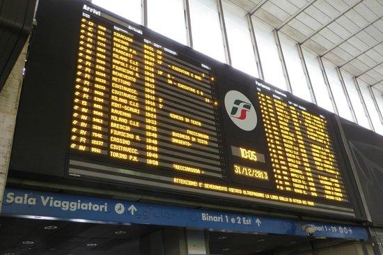 Stazione Termini: Arrivals and Departures board