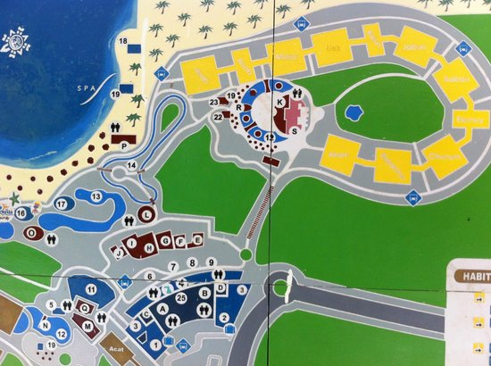 Map - Picture of Grand Sirenis Riviera Maya Resort & Spa, Akumal ...