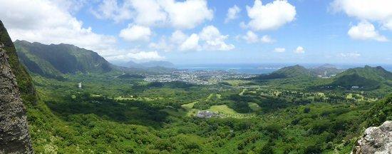 Nuuanu Pali Lookout : Lookout view looking east