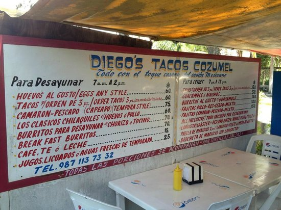 Diego's: Mouthwatering Menu
