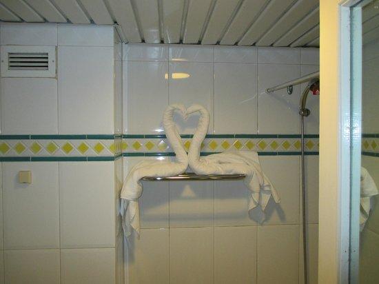 Meliá Las Antillas: Towel art in my bathroom.