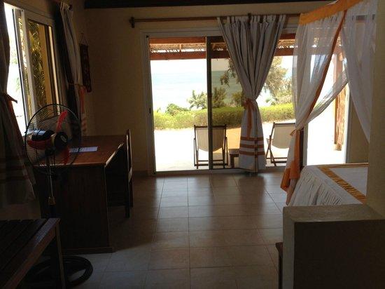 Hotel La Mira de Madio Rano: The room looking out toward the patio and the ocean