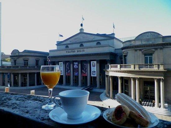 Splendido Hotel: desayunando en el balcón