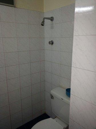 City Hotel: Dusche halb über dem Klo *g*