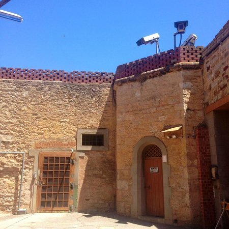Adelaide Gaol: interesting views of the old security cameras