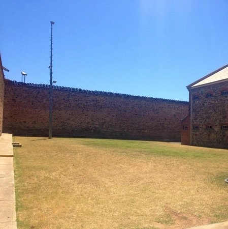 Adelaide Gaol: Open grassed area