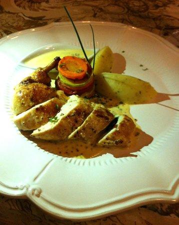 La Tache French Fusion: Supremas de pollo rellenas de espinacas