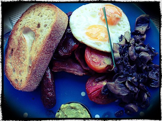 """The Runaway Spoon: Famished...why not try """"A Big Breakfast""""....satisfying. Skim photo"""
