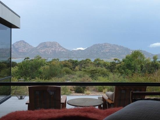 Saffire Freycinet: view from the bed.