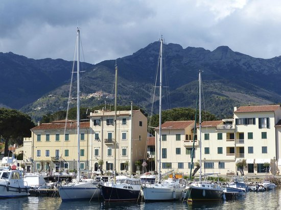 Monte Capanne: Monte Cappane, view from Marina Marciana