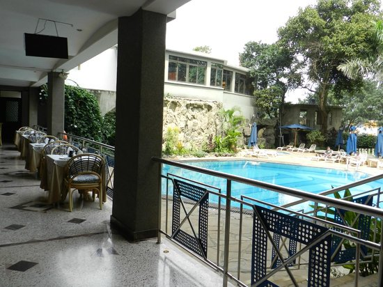 Impala Hotel: Pool from 1 of the open restaurant/bar areas.