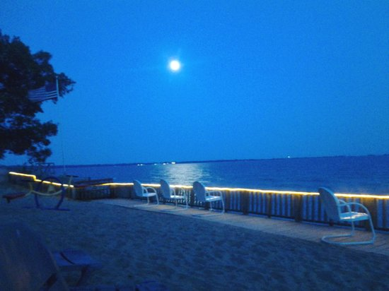 Tawas Inn &  Resort: gorgeous night view behind cottage