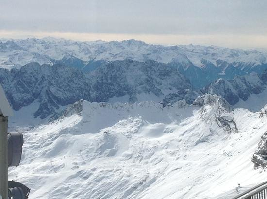 """Zugspitze: The """"white"""" mountain on Autumn with is glacier"""