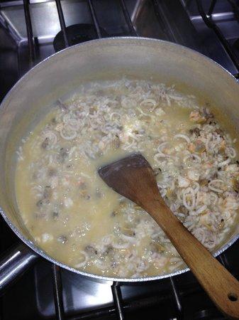 ristorante filiberto : risotto in preparazione...