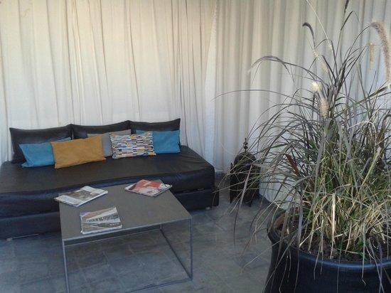 Riad Villa Wenge: Terrasse ombragée