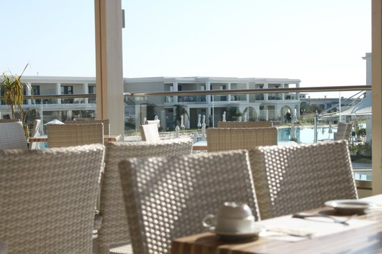 Levante Beach Resort: view from the restaurant to the property adjoining