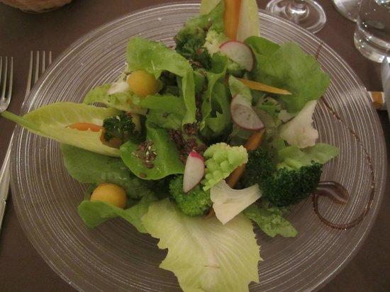 Les Toiles : mélange de salades de saison et petits légumes