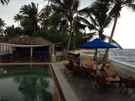 The Beach Club Talpe : From our perch on the raised couches
