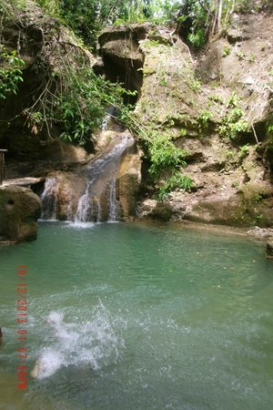 Poro Island, Philippinen: Great swimming spot at the falls