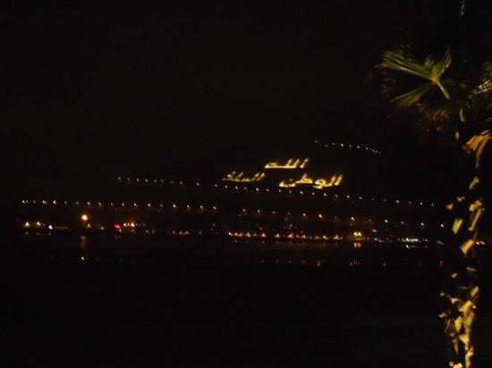 Hotel Riu Palace Tikida Agadir: View from beach front restaurant at night