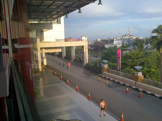 Mercure Banjarmasin: View from the restaurant (I think)