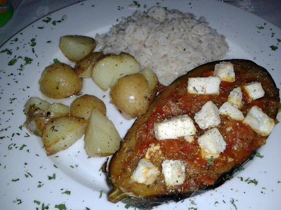 Ilhas Gregas: plato del menú, vegetariano