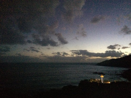 Lands End : Sign Post By Night. Room view.