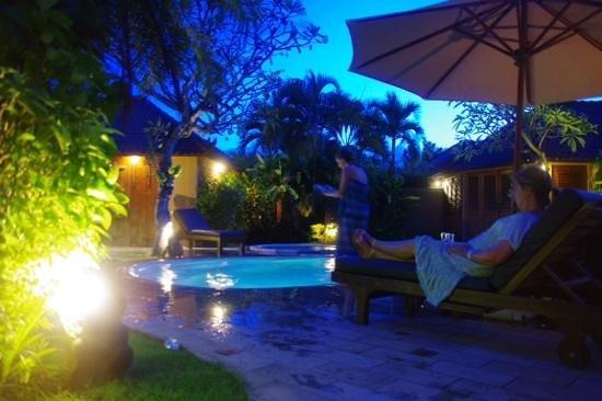 Dyana Villas : the pool at night