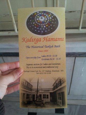 Kadirga Hamam: details about hammam