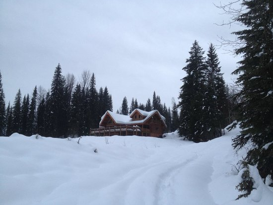Clearwater Springs Ranch: View of ranch from snowy meadow on property