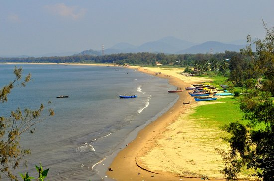 aerial view of karwar beach