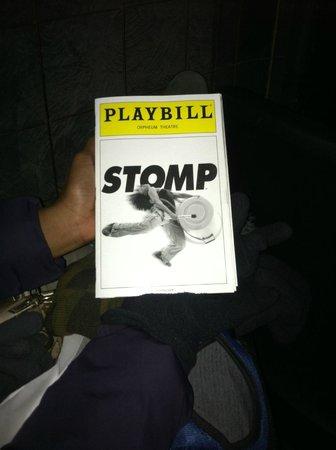 Stomp: Playbill