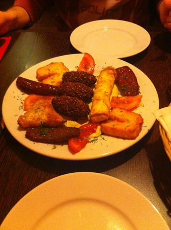 Red Mezze : Hot mezze starter for two