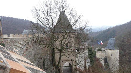 Karlstejn Castle: view from castle