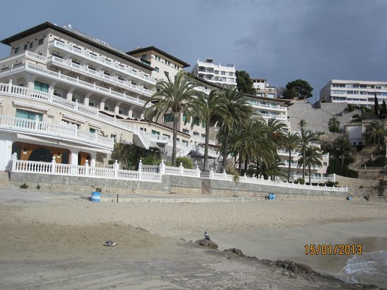Hotel Nixe Palace: Вид на отель с моря.